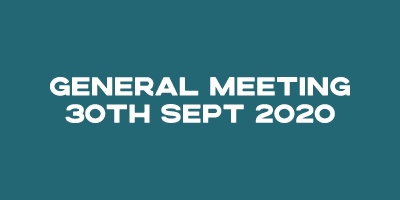 General Meeting – 30 Sept 2020