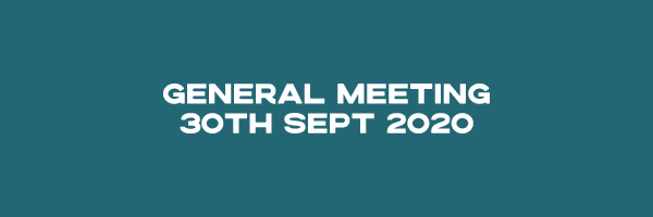 General Meeting – 30 Sept 2020