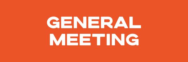 General Meeting – 4th Nov 2020